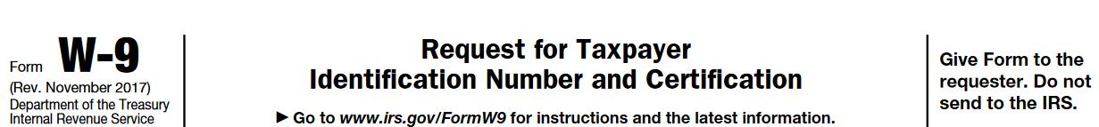 W 9 Tax Form Current 2018 Irs Blank
