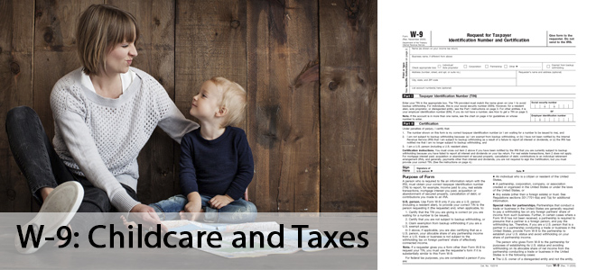 w-9 form: childcare and taxes in US